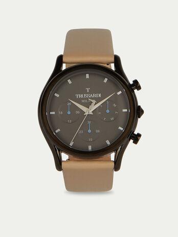 Orologio T-light cronografo con cinturino in pelle