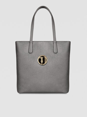 Shopping Bag Sophie medium in saffiano con logo