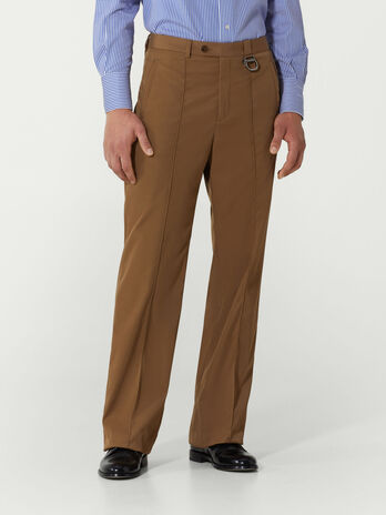 Regular fit technical twill trousers
