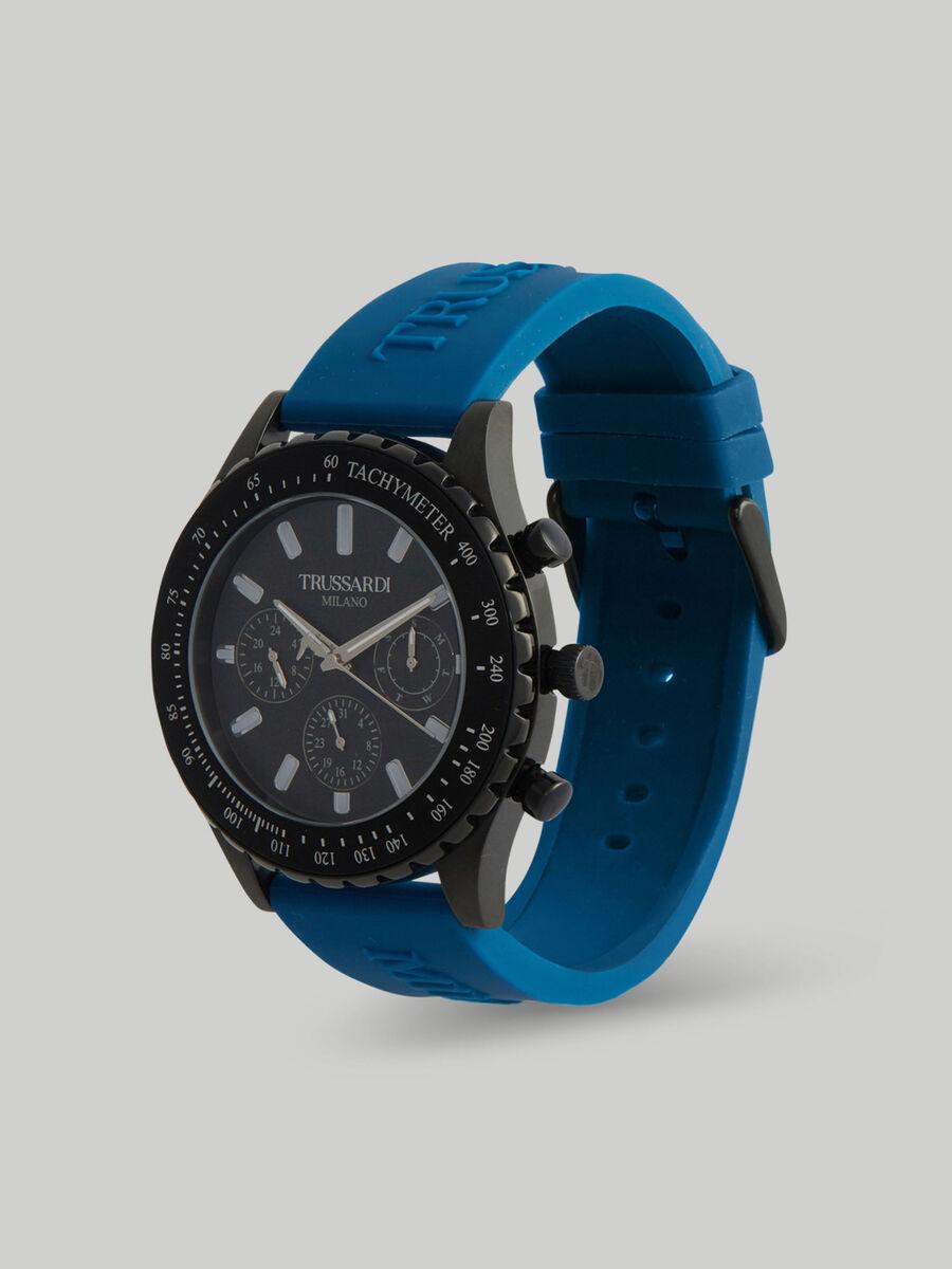 Armbanduhr T-Logo 45MM mit Silikonarmband