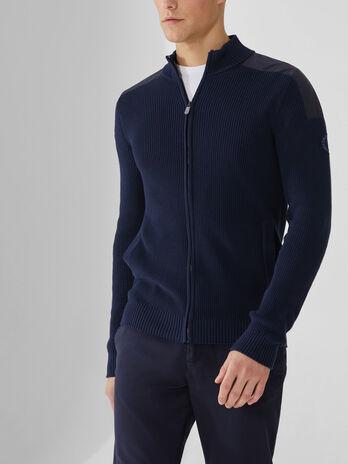 Pullover aus Baumwolle mit Reissverschluss