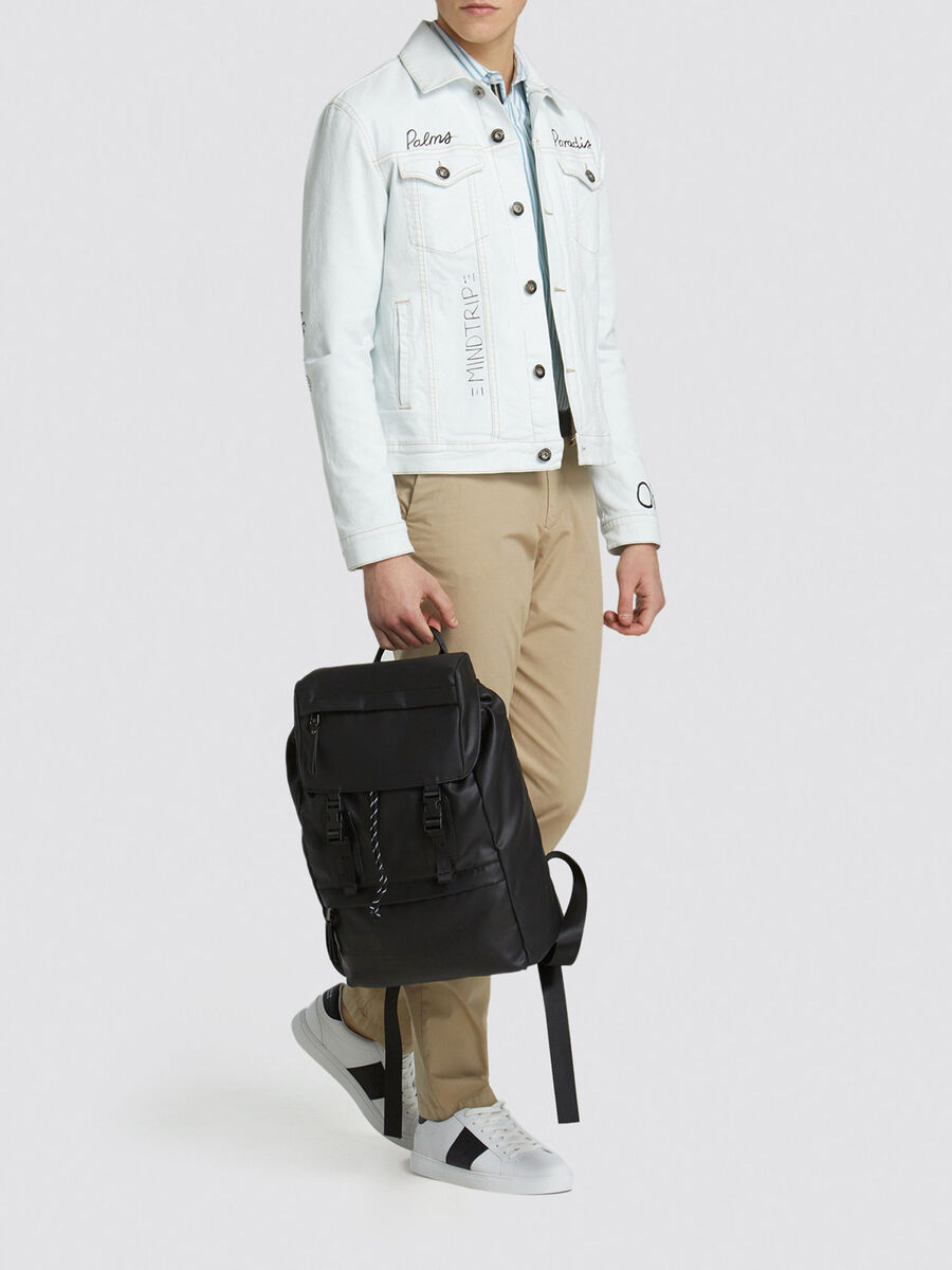 Medium Turati backpack in rubberised nylon and Cordura