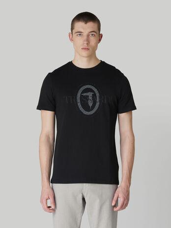 Camiseta de corte regular de puro algodon con estampado