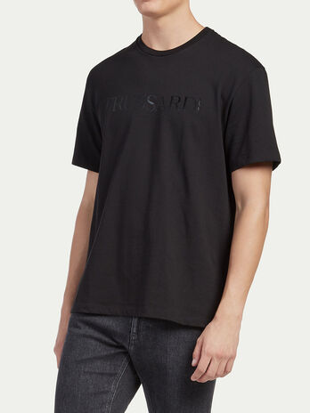 T shirt coupe over avec lettering