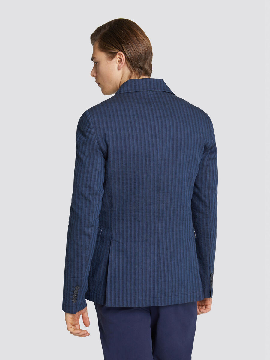 Regular fit jacket with tonal pin stripes