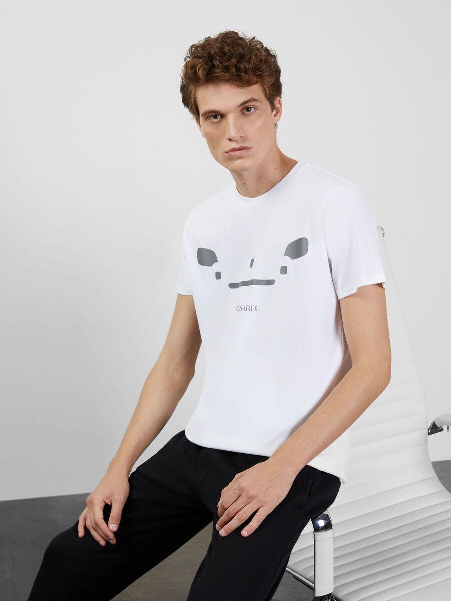 T-shirt en jersey de coton a imprime