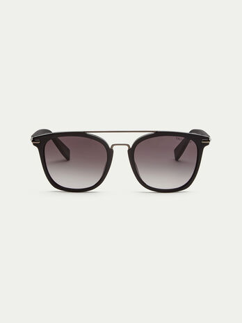 Sunglasses with geometric bar details