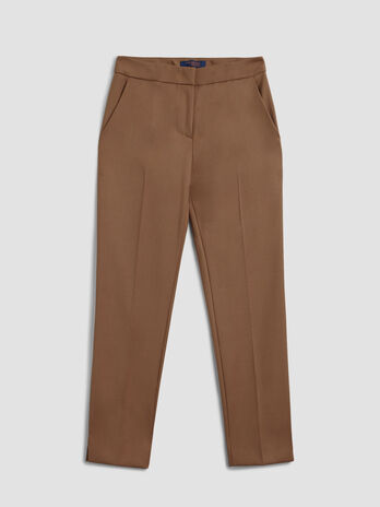 Viscose flannel trousers