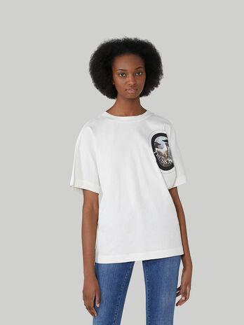 Boyfriend-fit cotton jersey T-shirt