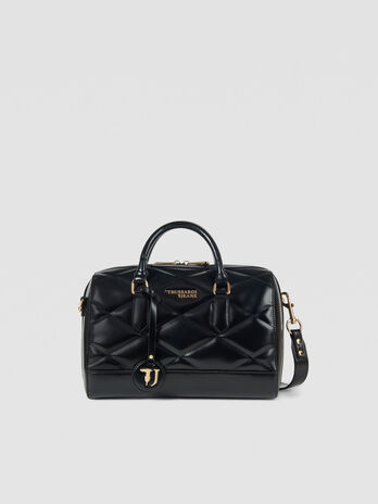 Medium T-Easy City trunk bag in faux leather with logo