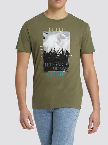 T Shirt im Regular Fit mit Dance Print