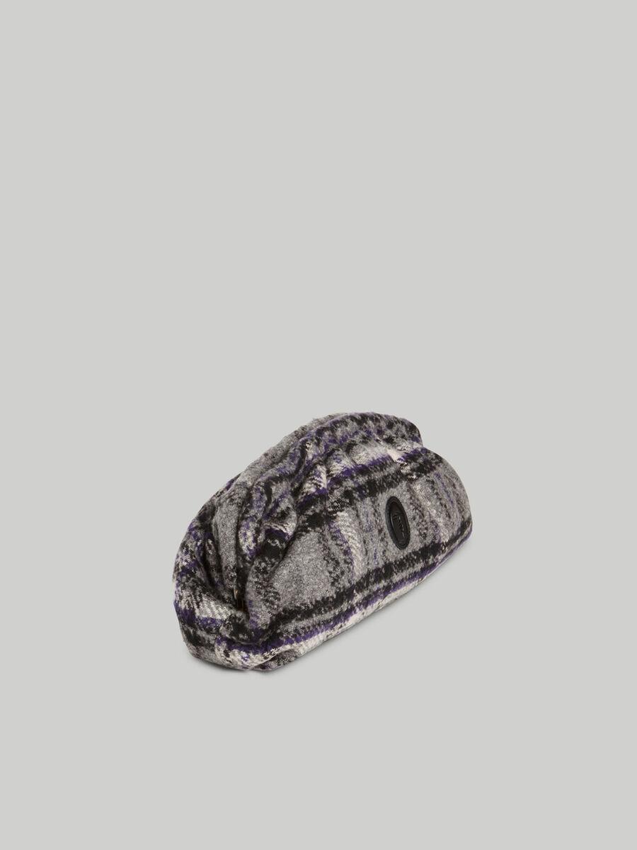 Pochette Thalia moyen format en tissu a carreaux