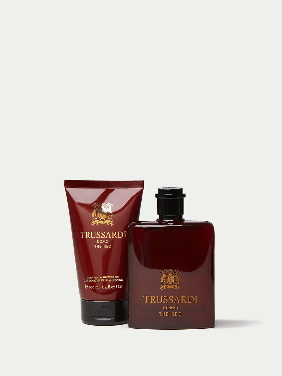 Confeccion Trussardi Uomo The Red perfume gel y neceser