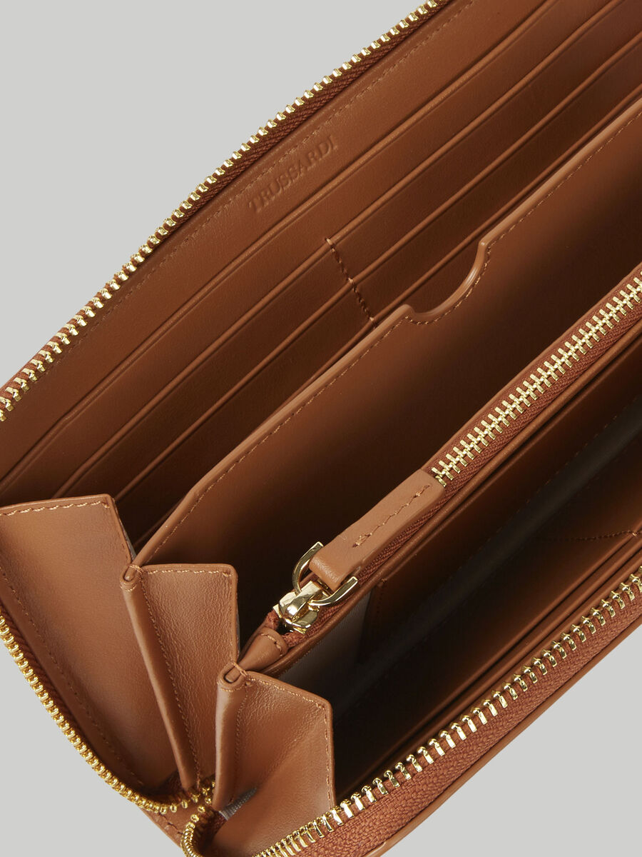 Leather Venezia zip-around purse