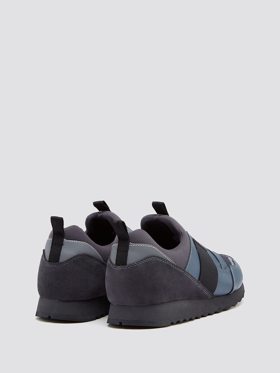Sneakers running con catarifrangente reflex