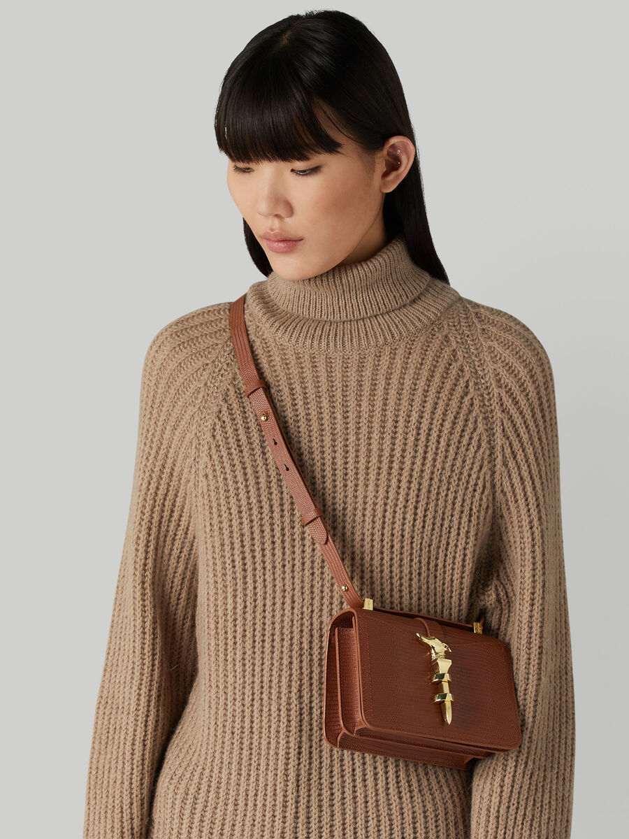Petit sac cross-body Leila a imprime lezard