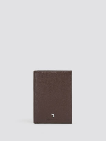 Crespo leather vertical wallet