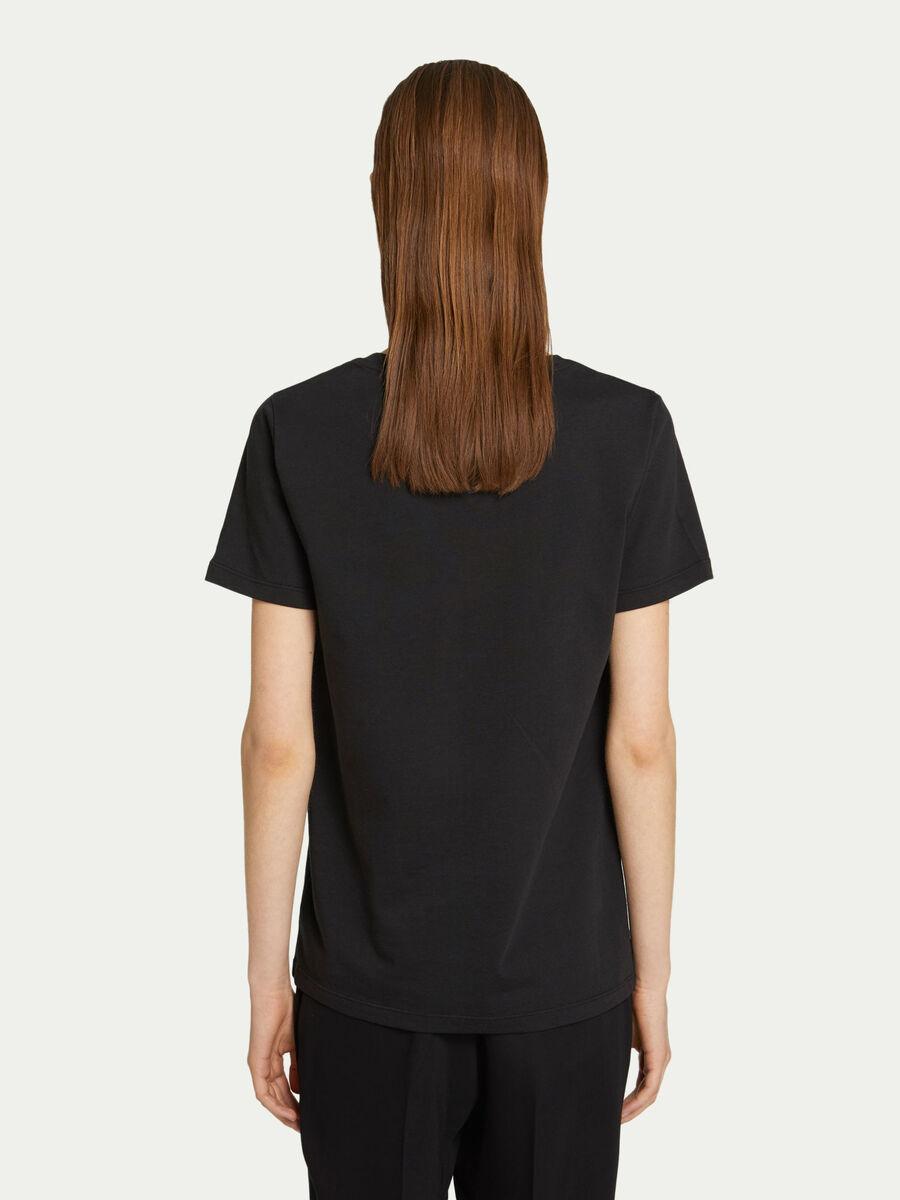 T-shirt slim fit in jersey di cotone con logo stampato
