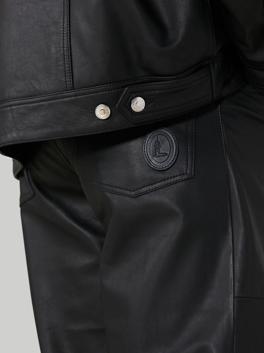 Jacke aus Kansas-Leder mit Vordertaschen