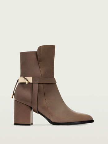Ankle boot calf leather