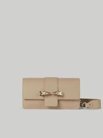 Baguette-Tasche Milano aus Glatt- und Veloursleder