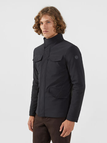 Field jacket in tessuto tecnico regular fit