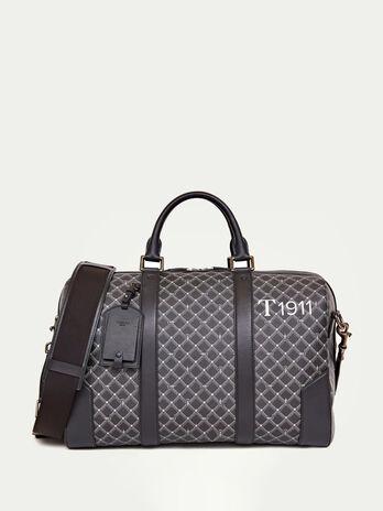 Crespo Leather Monogram Boston bag