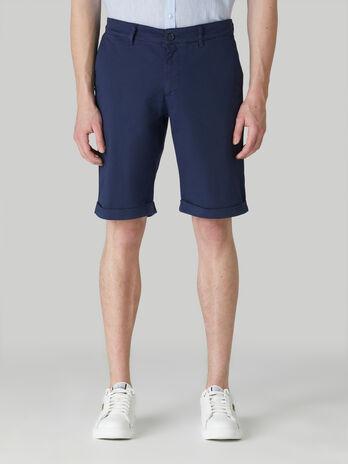 Aviator-fit light gabardine shorts