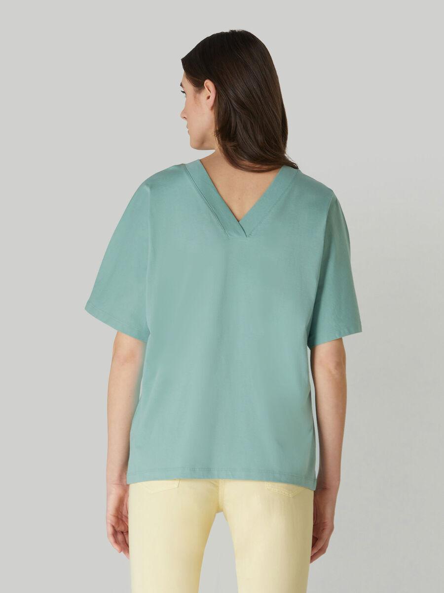 Boyfriend-fit jersey T-shirt with print