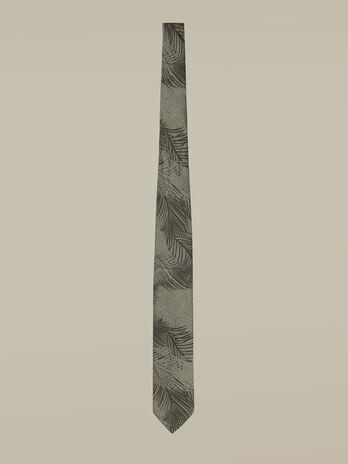 Cravatta stampata in misto cotone