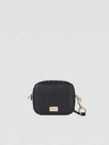 Dafne camera bag in studded faux leather