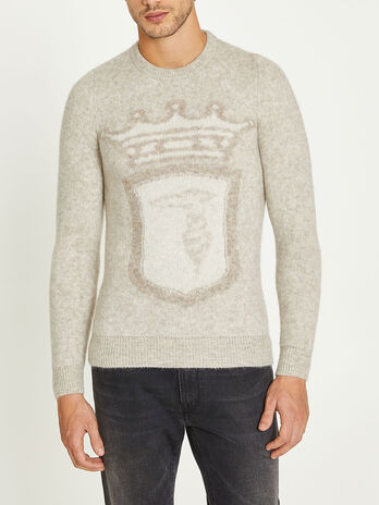 Mohair round neck sweater