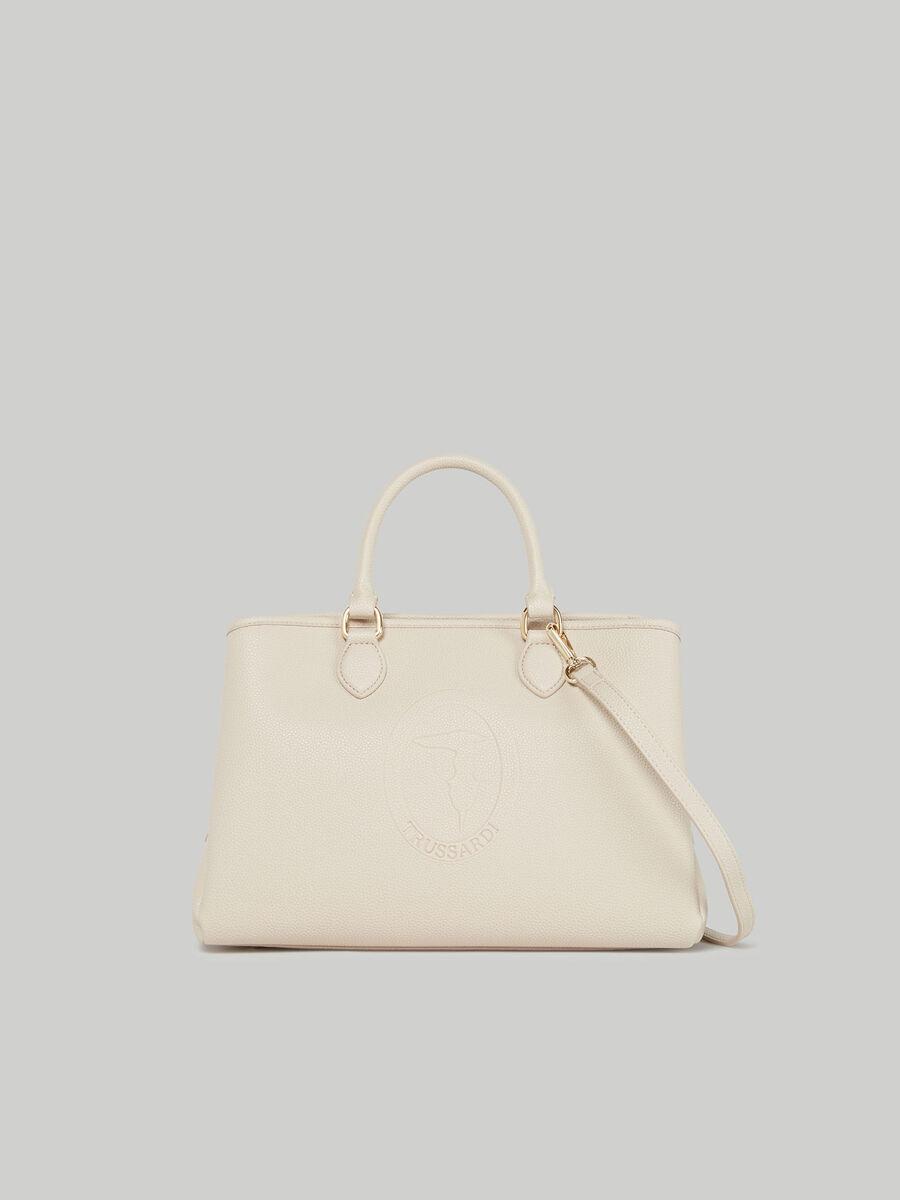Medium Iris tote bag with deerskin print