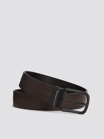 Business Affair belt with matte leather interior