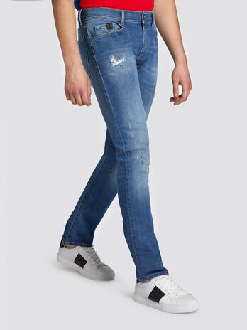 Slim fit Seasonal 370 jeans with micro dotted design