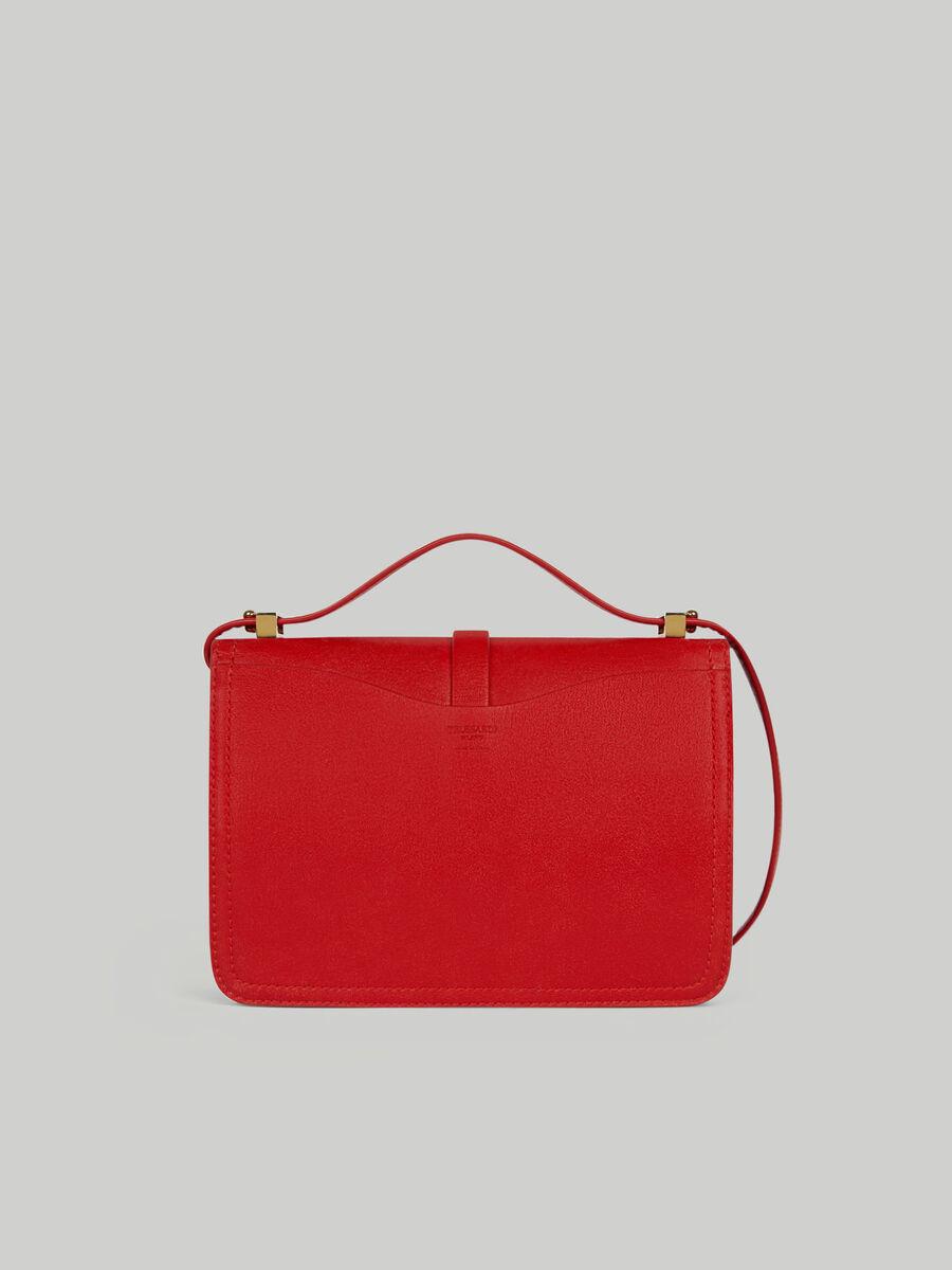 Leila medium leather shoulder bag with levriero