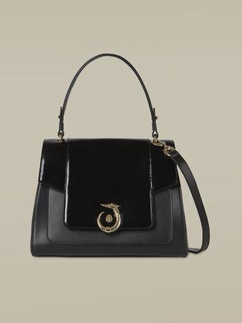 Regular-size New Lovy handbag in mirrored leather