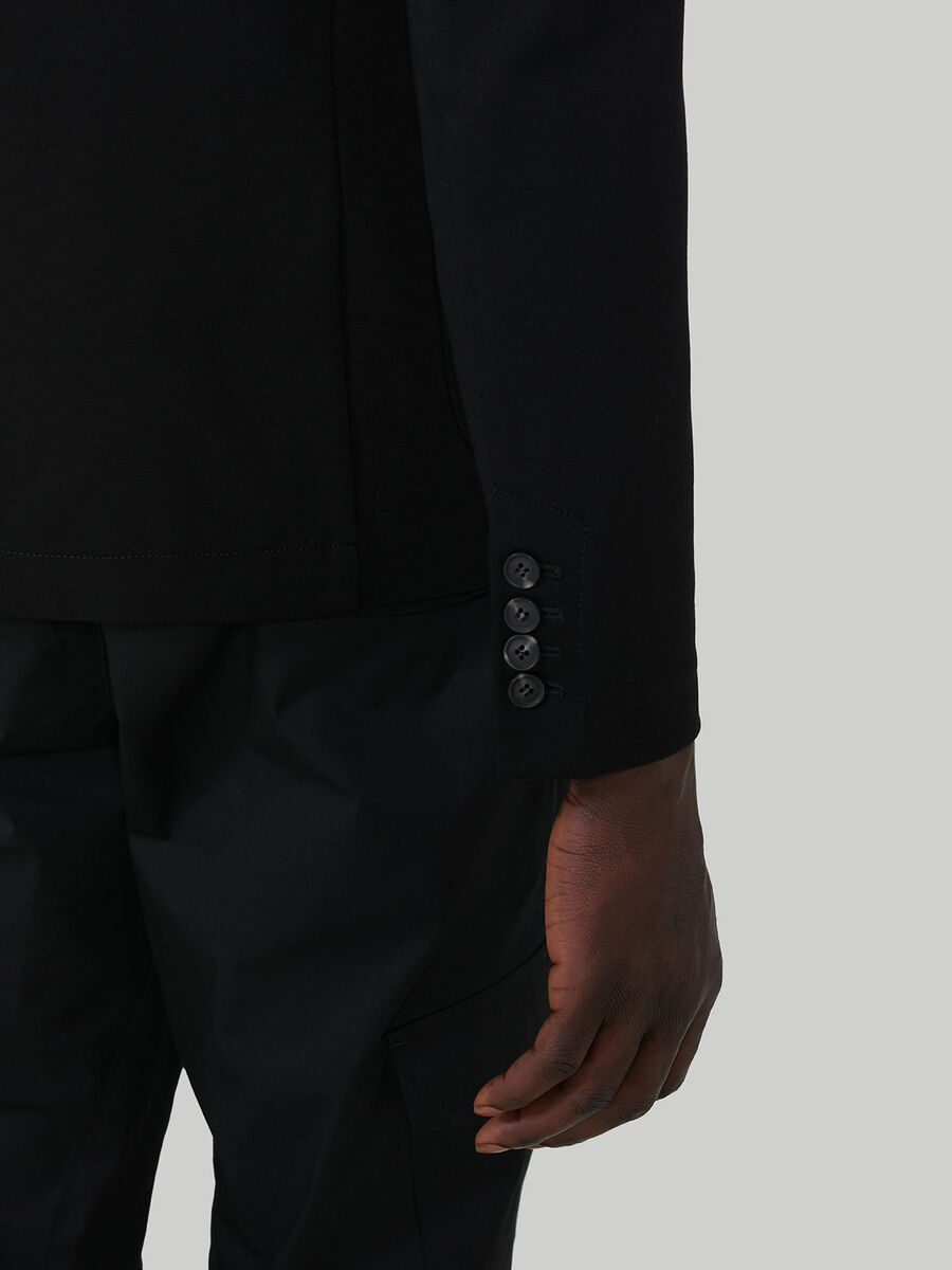 Blazer slim fit in jersey di viscosa
