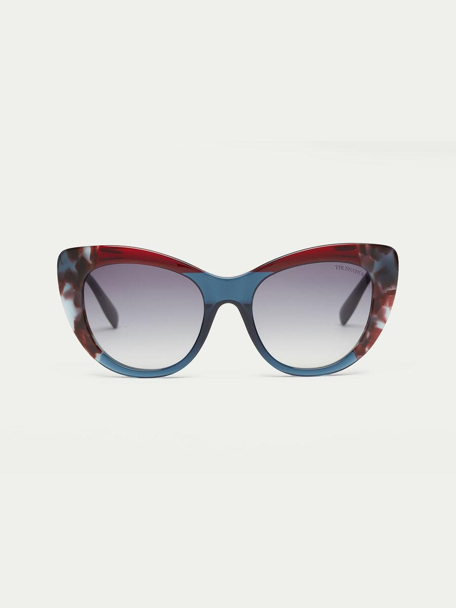 Sonnenbrille in Schildpatt Optik rauchfarben