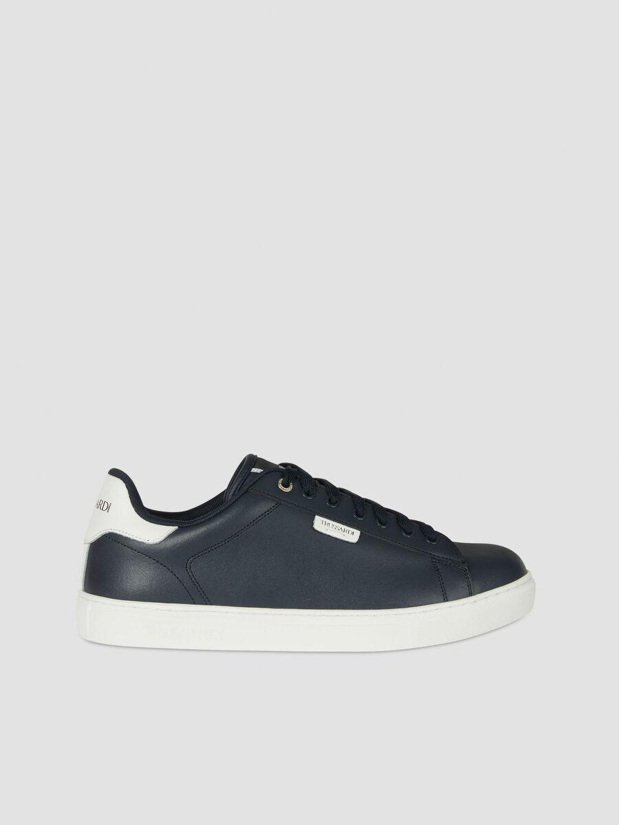 Sneakers low top en cuir