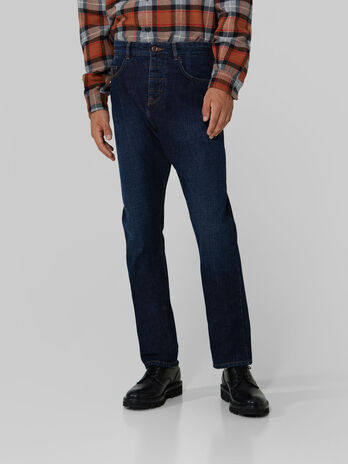 Relaxed Jeans aus Selvedge Denim