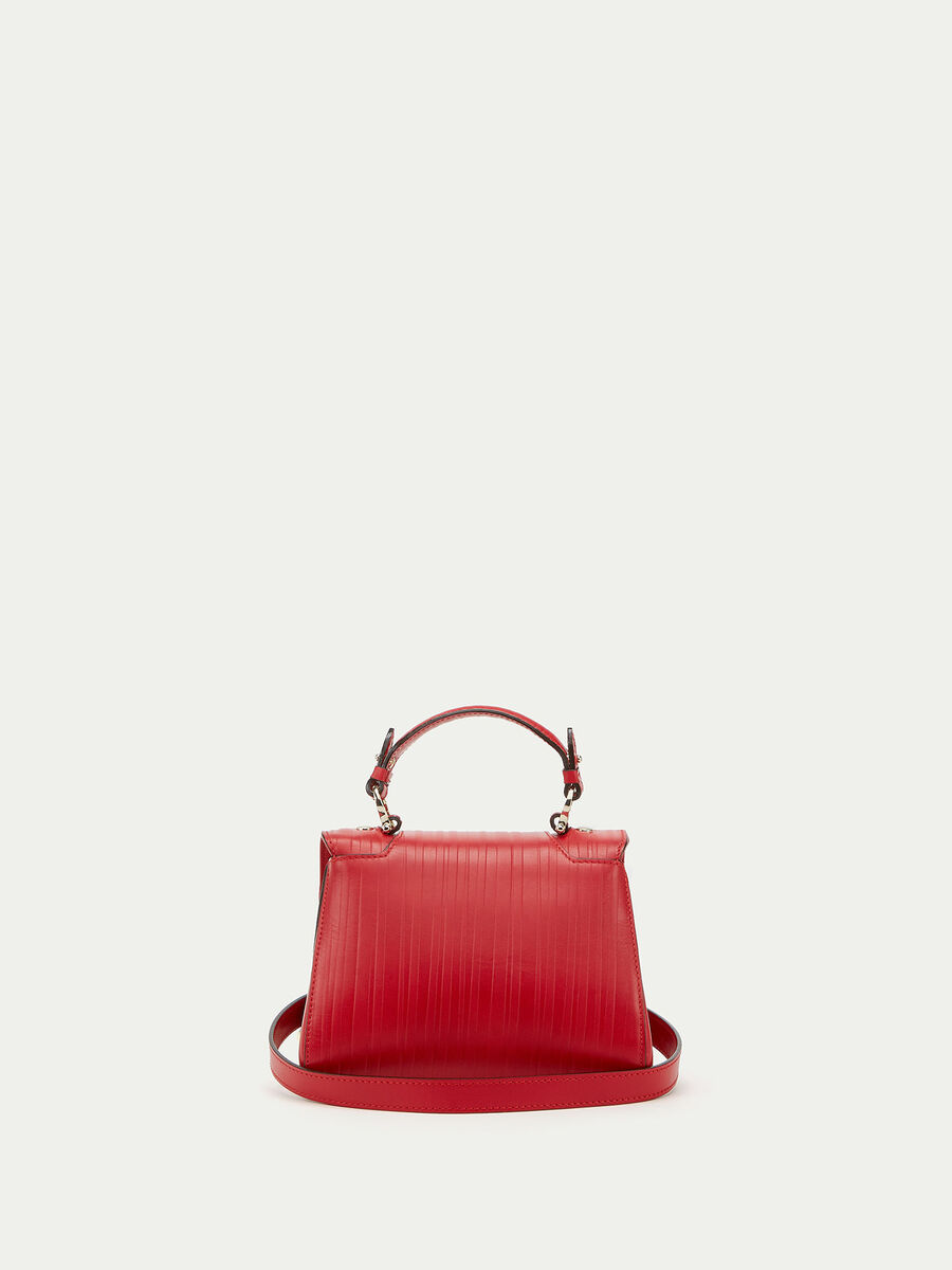 Mini Lovy Bag  in striped tresor  calfskin