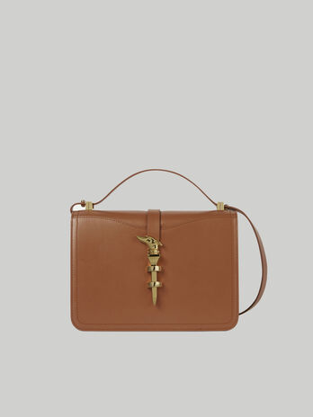 Medium leather Leila crossbody bag