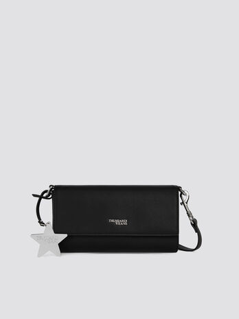 Faux leather T-Easy Star mini clutch with star detail