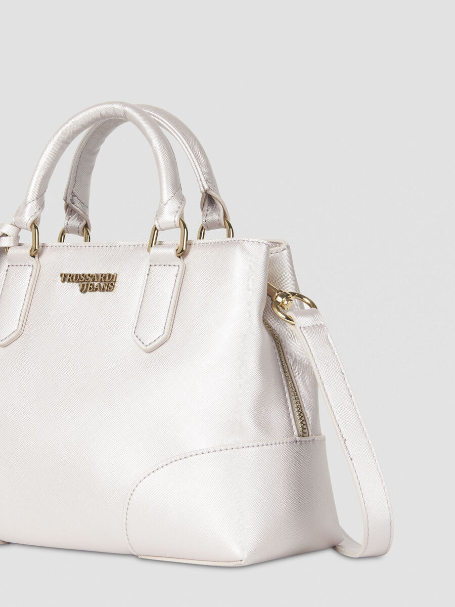 Small Bella tote bag in laminated faux leather