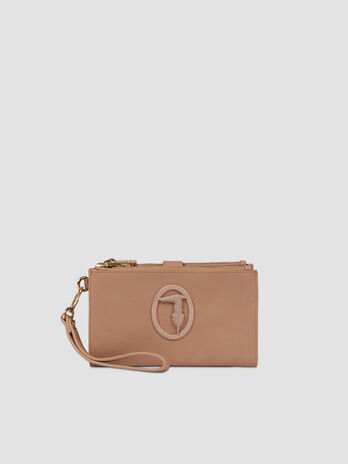 Faux leather Marrakech purse with double zip
