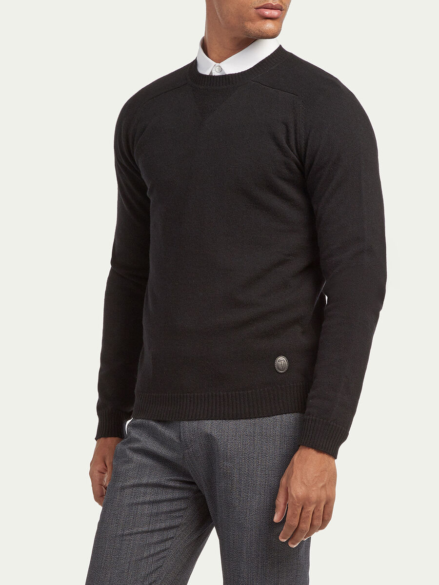 Pullover regular fit in misto cachemire