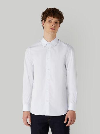 Regular-fit textured cotton shirt