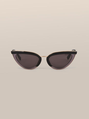 Cat eye sunglasses in acetate and metal