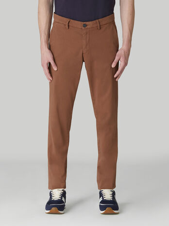 Aviator-fit soft cotton drill trousers